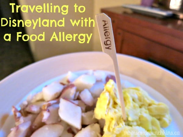 Travelling to Disneyland with a Food Allergy