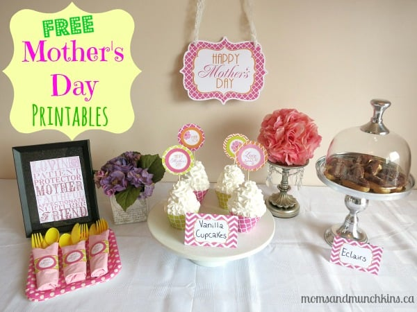 Free Mother's Day Printables - Moms & Munchkins