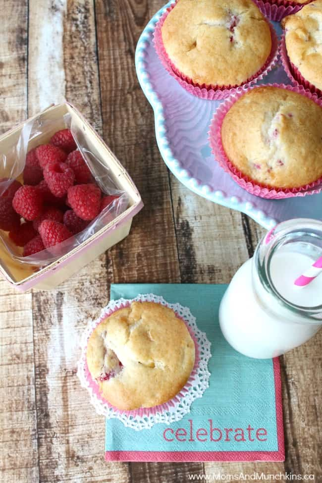 Delicious Muffins - Raspberry White Chocolate Muffins
