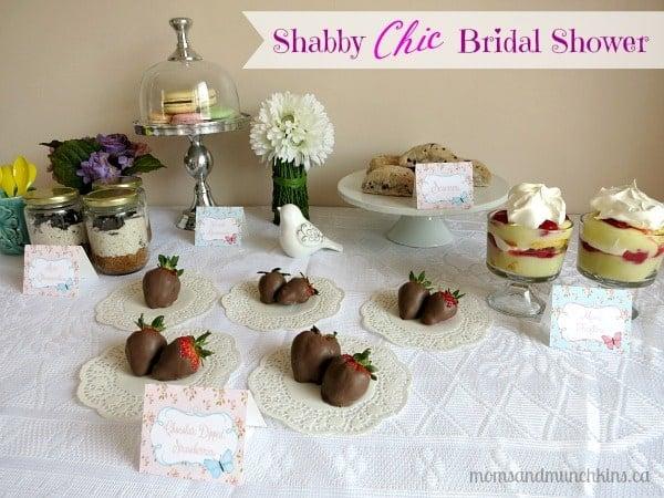 Shabby chic bridal shower