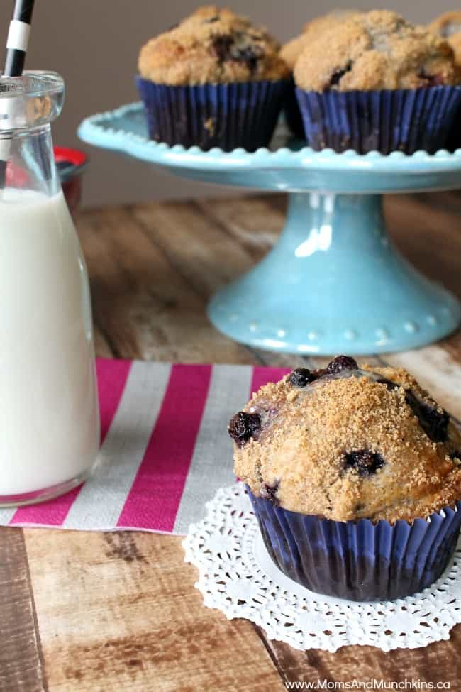 Delicious Muffins - Whole Wheat Blueberry Muffins