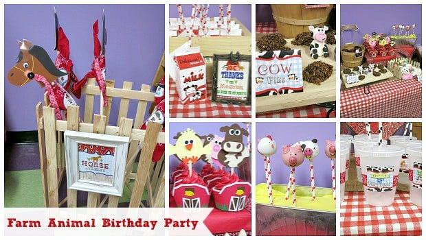 Farm Animal Birthday Party Ideas Moms Amp Munchkins