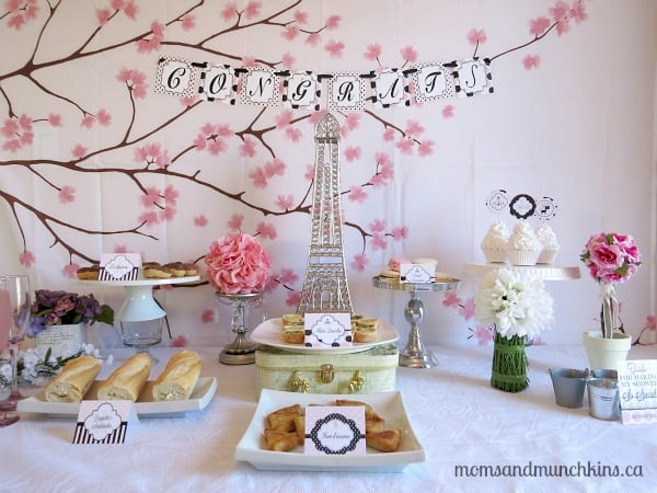 Paris Bridal Shower Ideas Moms amp Munchkins