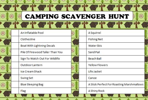 Camping Scavenger Hunt (Free Printable) - Moms & Munchkins