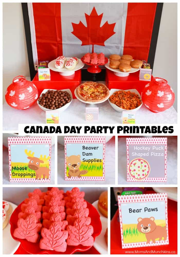 Canada Day Free Party Printables