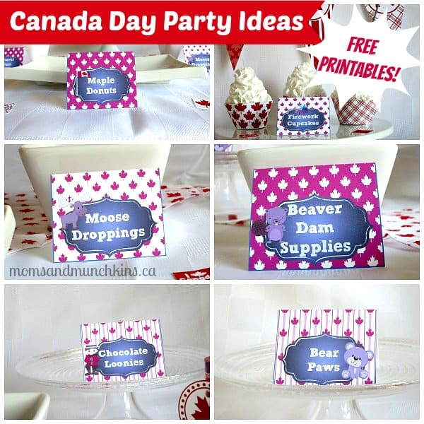 Canada Day Printables - Food Tents