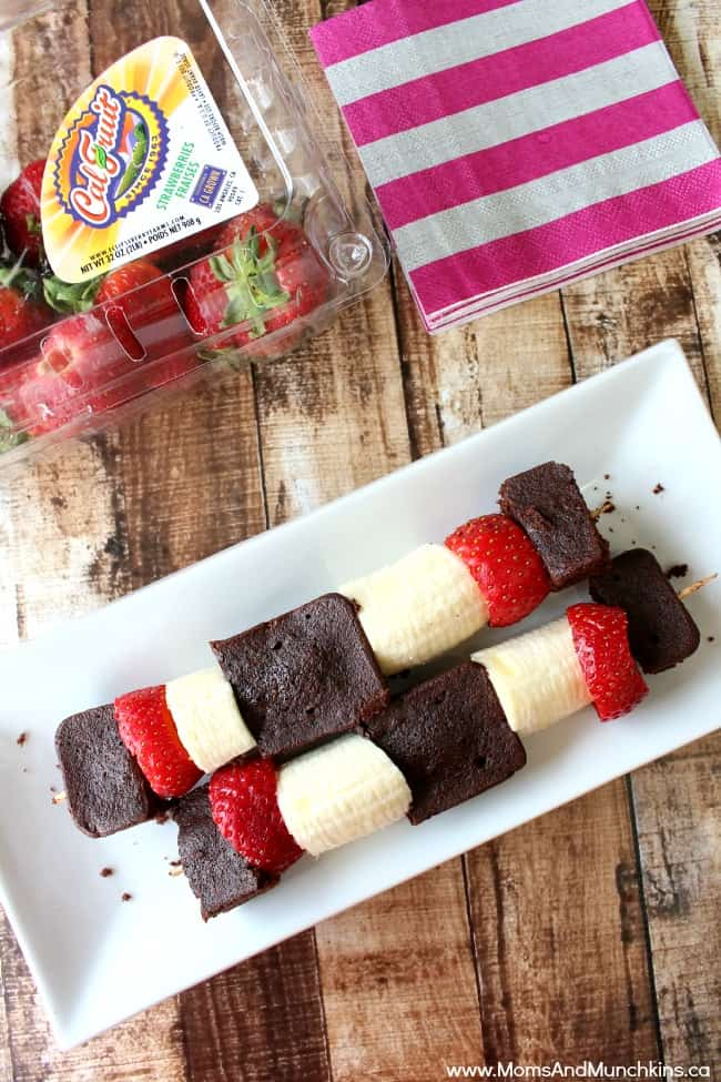 Brownie & Fruit Kabobs