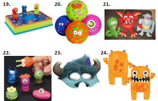 Monster Birthday Party Supplies
