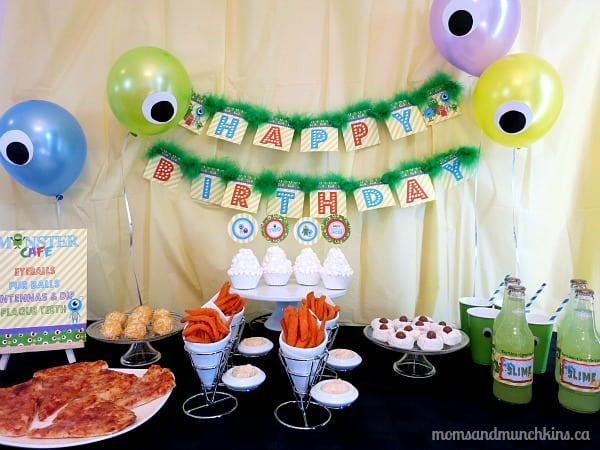Monster Birthday Party Ideas Moms Munchkins