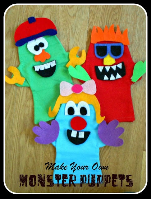 Monster Birthday Party - Puppets