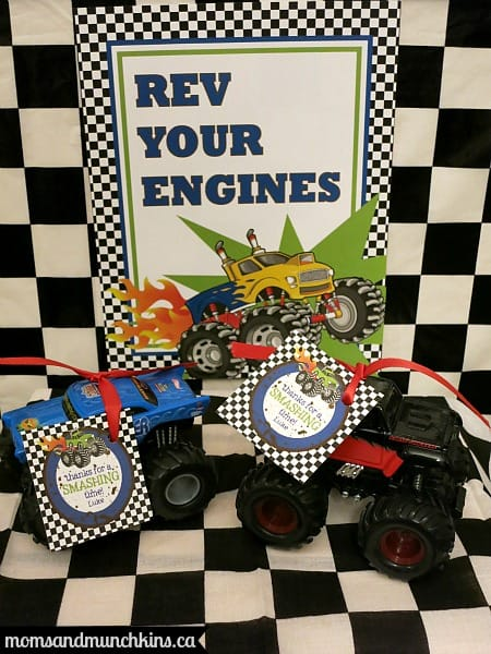 Monster Truck Birthday Favors