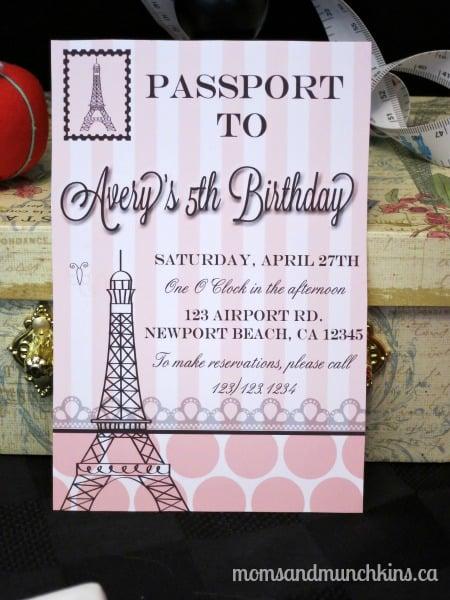 Paris Fashionista Birthday