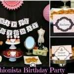 Paris Fashionista Birthday Party