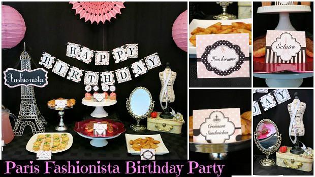 Paris Fashionista Birthday Party