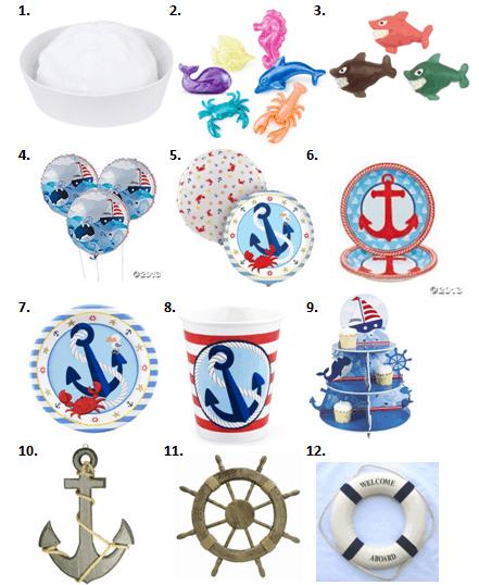 Sailor Party Supplies