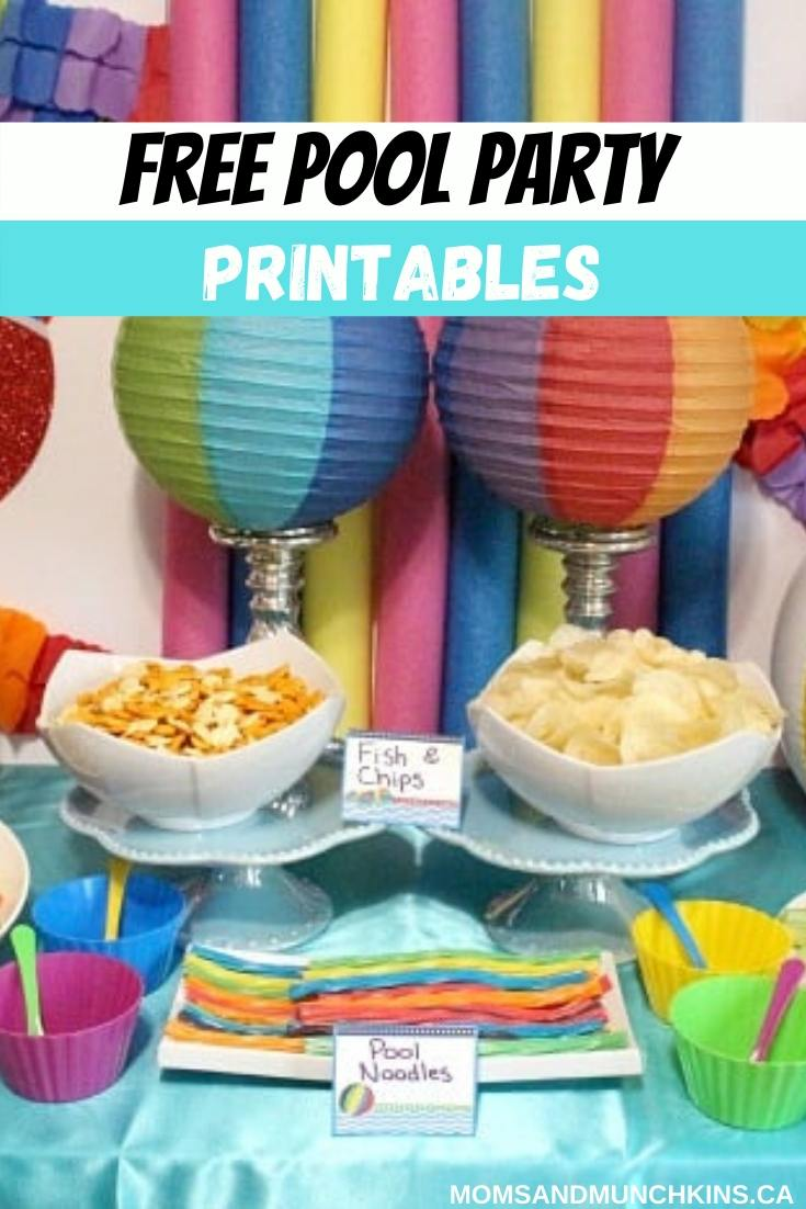 Free Pool Party Printables