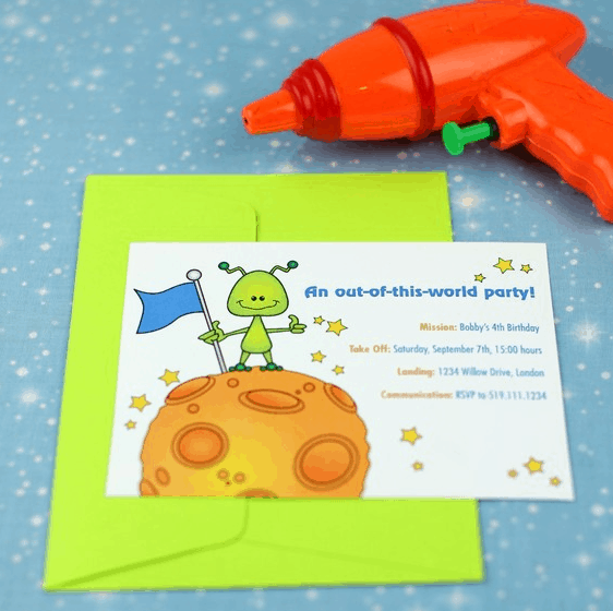 Alien Party Ideas - Invitations