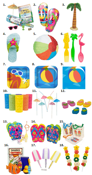 Beach Party Supplies
