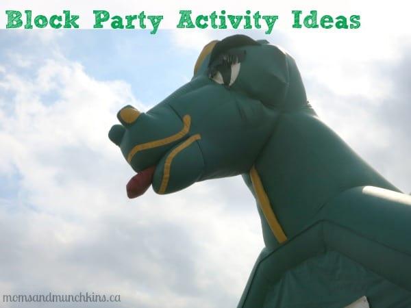 Block Party Activity Ideas