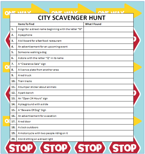 City Scavenger Hunts
