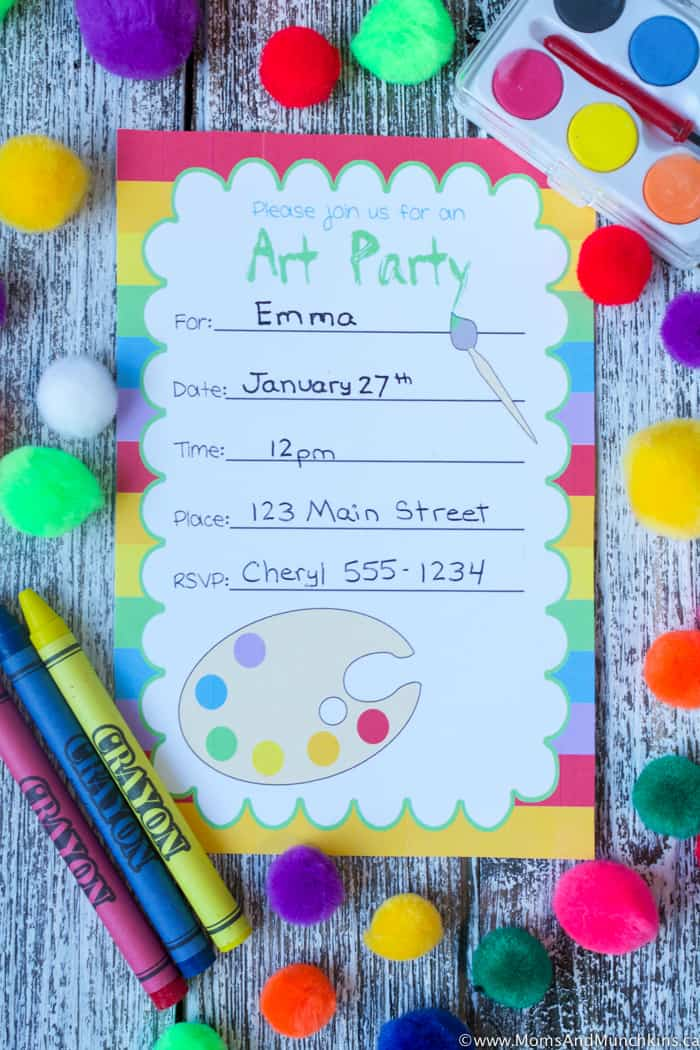 Art Birthday Party Ideas