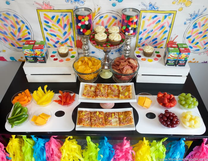 Art Birthday Party Ideas For Kids Moms Munchkins
