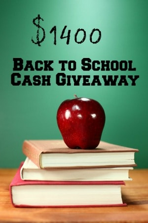 Back to School 1400 Cash Giveaway Event