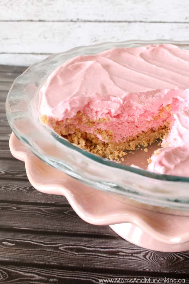 Pink Lemonade Recipes - Frozen Pink Lemonade Pie