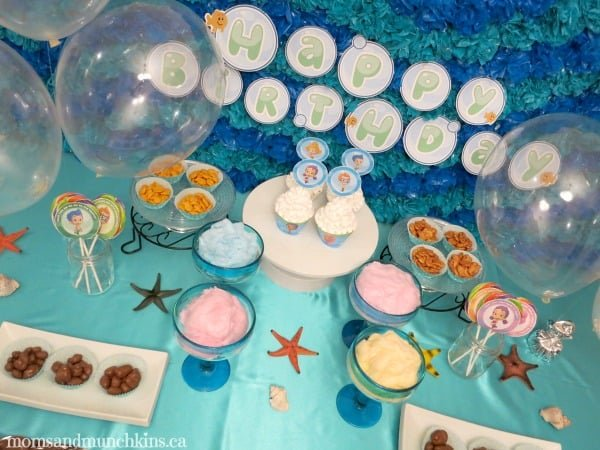 Bubble guppies birthday party moms munchkins - Bubble guppie birthday ideas ...