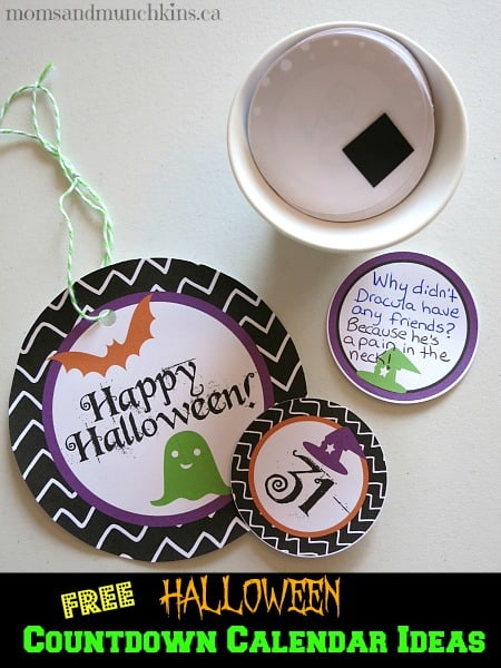 Free Halloween Countdown Calendars