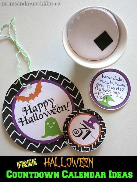 Free Halloween Countdown Calendars