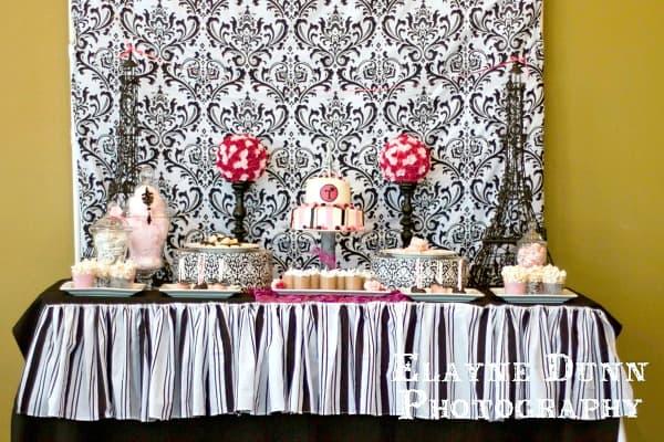 Paris party inspiration moms munchkins for Paris themed desserts