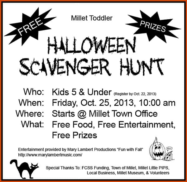 Halloween Community Scavenger Hunt