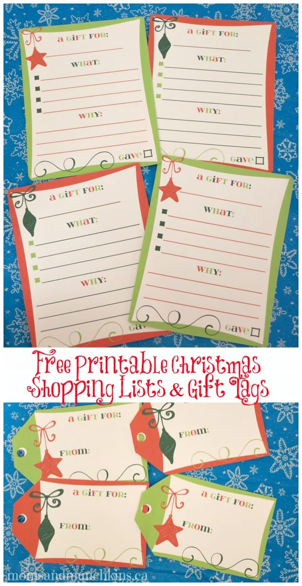 Free Christmas Shopping List