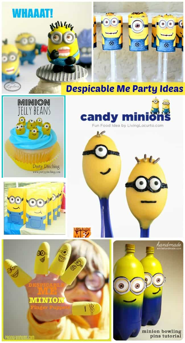 Get Gru, the girls, and the minions for your next big birthday bash when you shop for Despicable Me Party Supplies! This collection includes a big selection of tableware like dinner plates, napkins, and cups, decorations like balloons, and tons of favors like bouncy balls, paper minion goggles, personalized mugs, tattoos, and lots more!