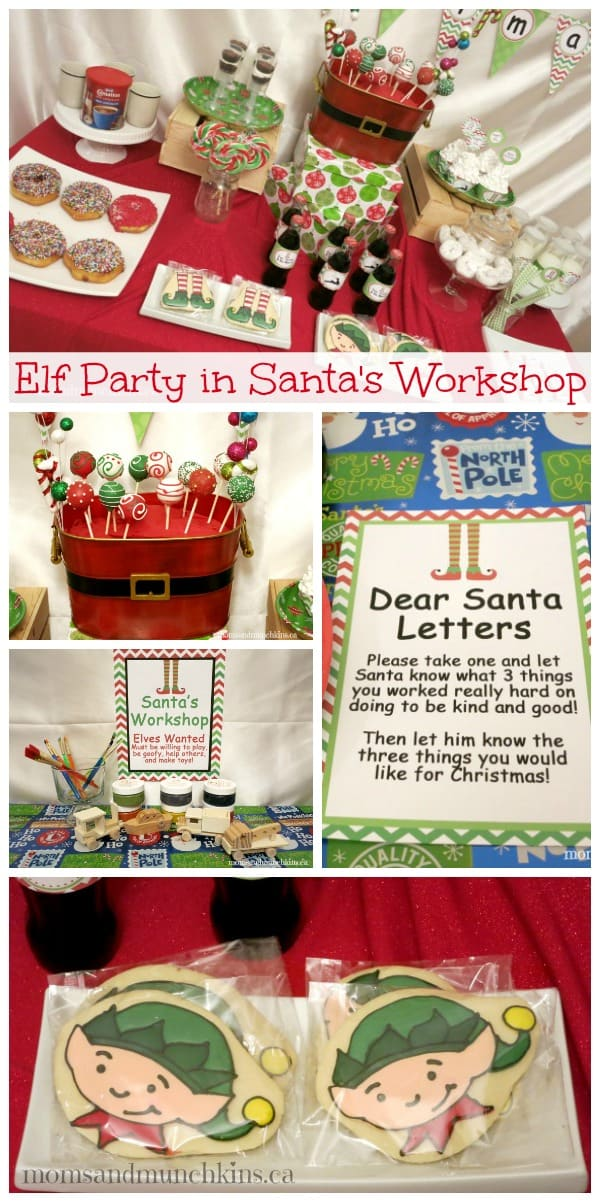 holiday party ideas in santa s workshop amp munchkins 12424