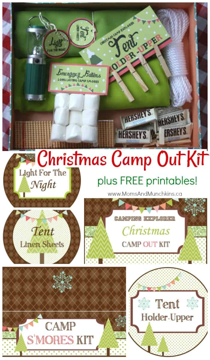 Christmas Camp Out Kit Printables