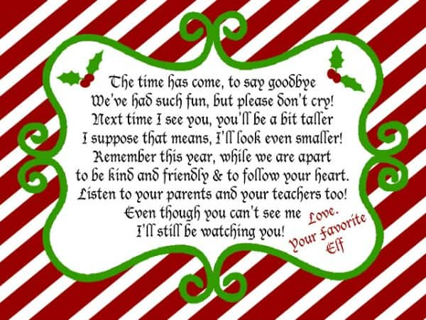 Pics Photos - Freebie Your Very Own Goodbye Letter From The Elf On The ...
