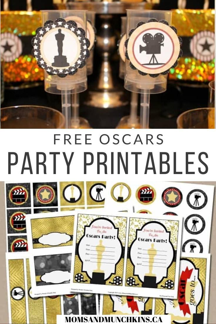 Free Oscar Party Printables