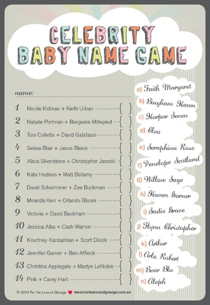 another fun baby shower charades game this one has your guests