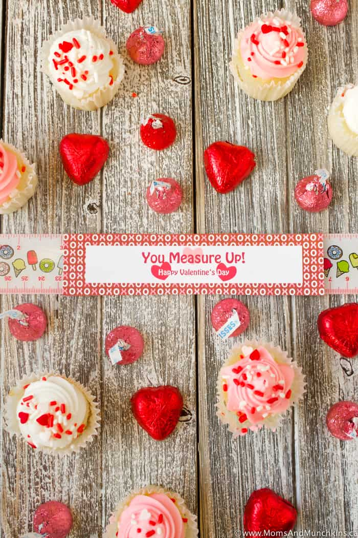 Free Printable Valentines - You Measure Up Ruler Tag