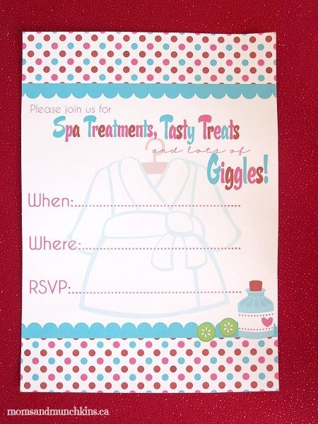 Valentine Party Printables With A Spa Theme Moms Amp Munchkins