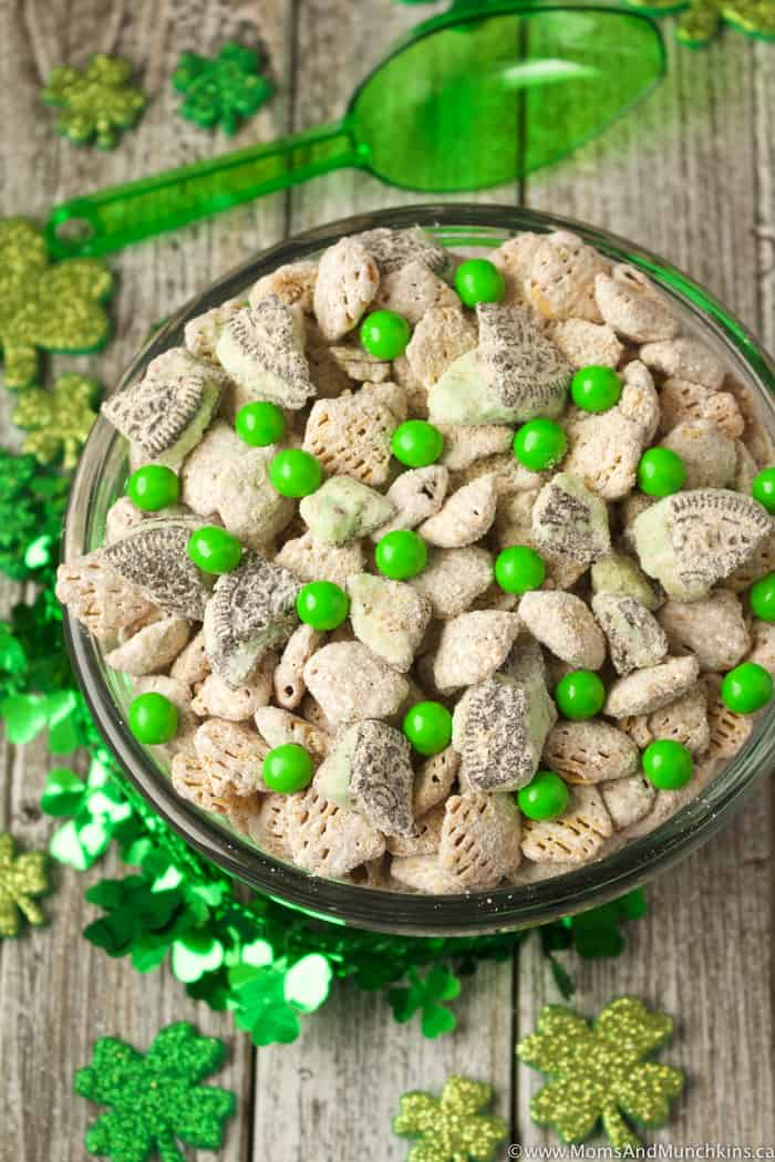 Chocolate Mint St. Patrick's Day Snack Mix