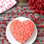 Heart Cake with Cinnamon Buttercream Frosting