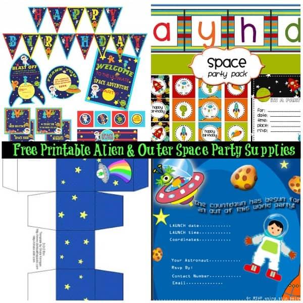 Alien Party Freebies