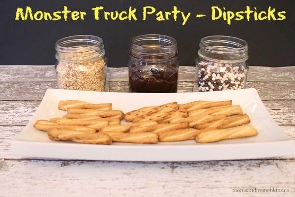 Monster Truck Party Food Dipsticks Moms Amp Munchkins