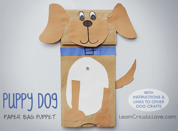 Puppy crafts a collection of fun ideas moms munchkins for Brown paper bag crafts for toddlers