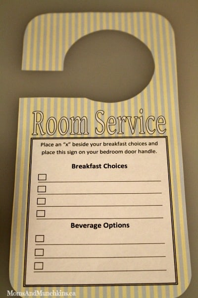 Sausage Breakfast Pizza And Free Room Service Template