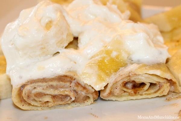 Dessert Crepes - Cinnamon Bun Crepes - Moms & Munchkins