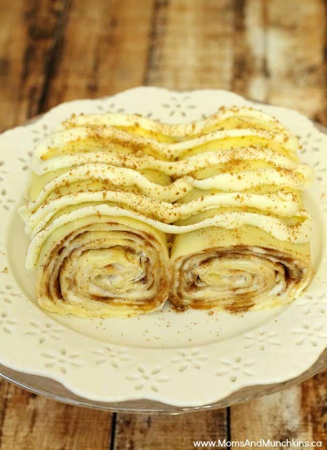 Dessert Crepes - Cinnamon Bun Crepes